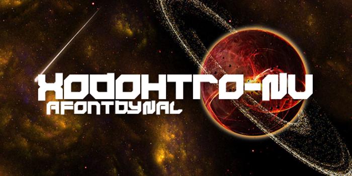 Xodohtro-Nu Font poster