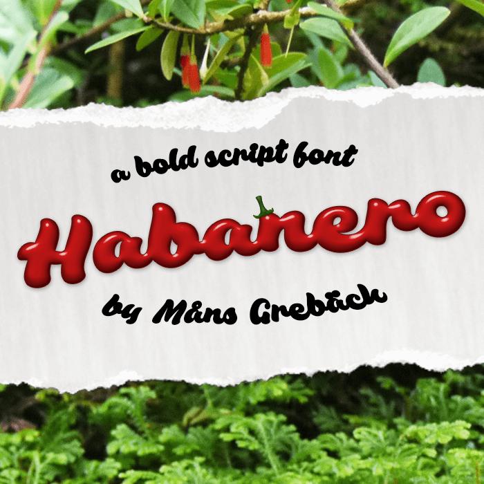 Habanero Font poster
