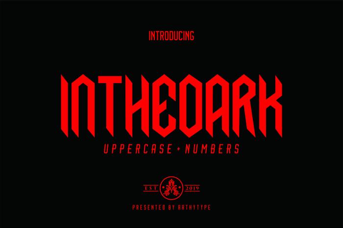 Inthedark Font poster