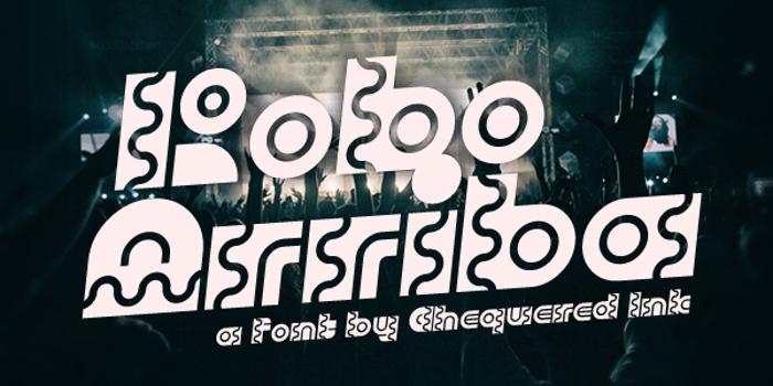 Robo Arriba Font poster