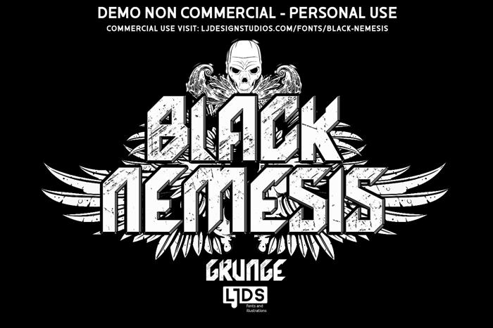 Black Nemesis Font poster