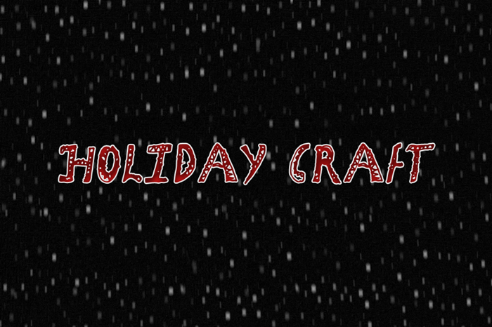 Holiday Craft Font poster