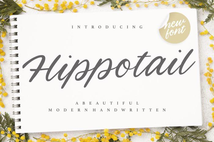 Hippotail Font poster