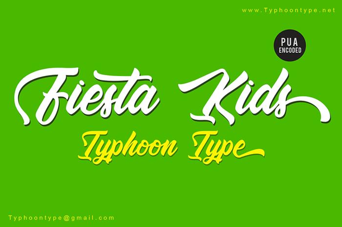 Fiesta Kids Font poster