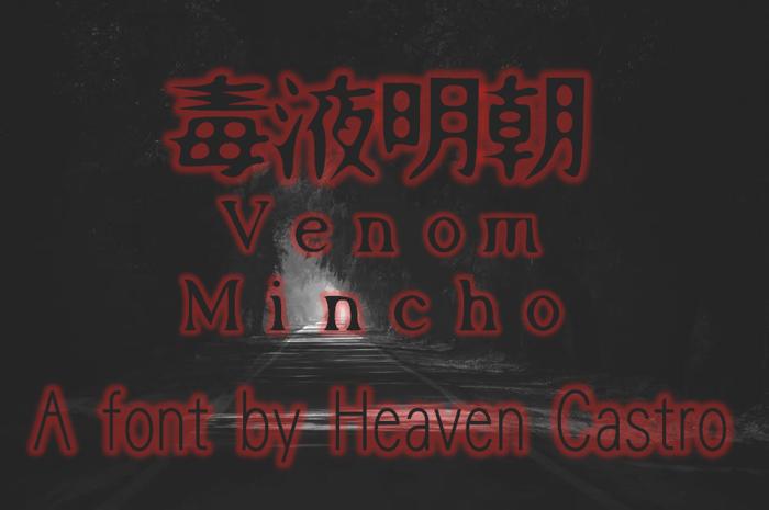 Venom Mincho Font poster