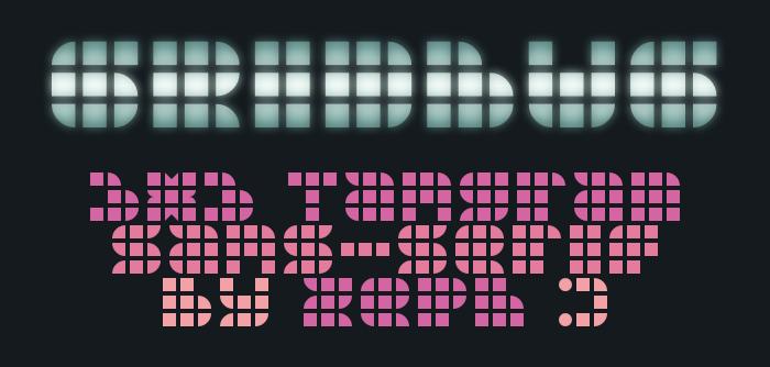 Gridbug Font poster