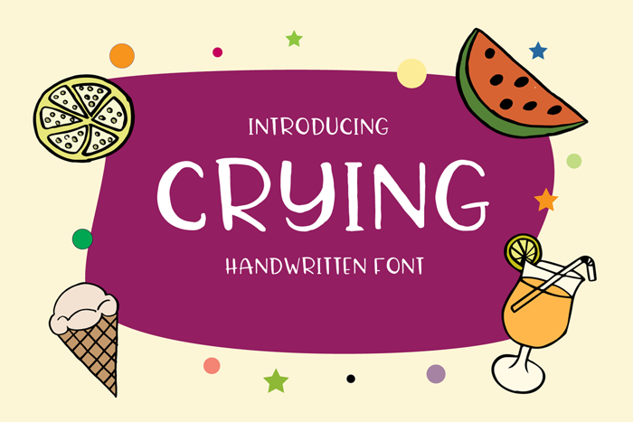 Crying Font poster
