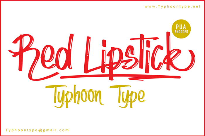 Red Lipstick Font poster