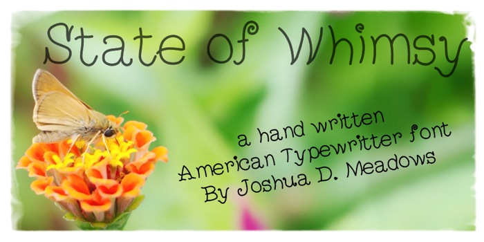StateOfWhimsy Font poster