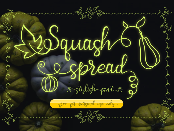 Squash Spread Font poster