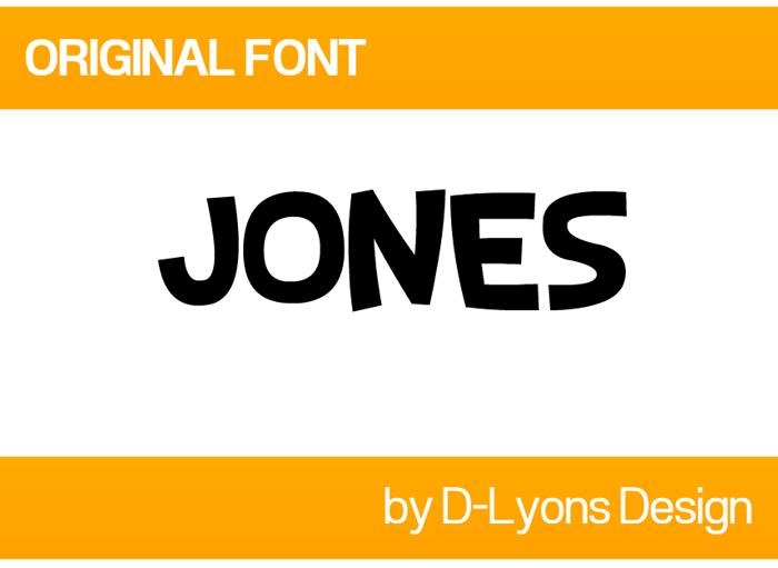 Jones Font poster