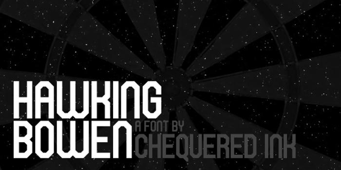 Hawking Bowen Font poster