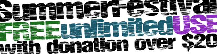 SummerFestival Font poster