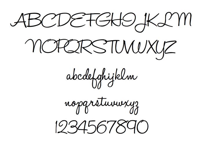 HaloHandletter Font poster