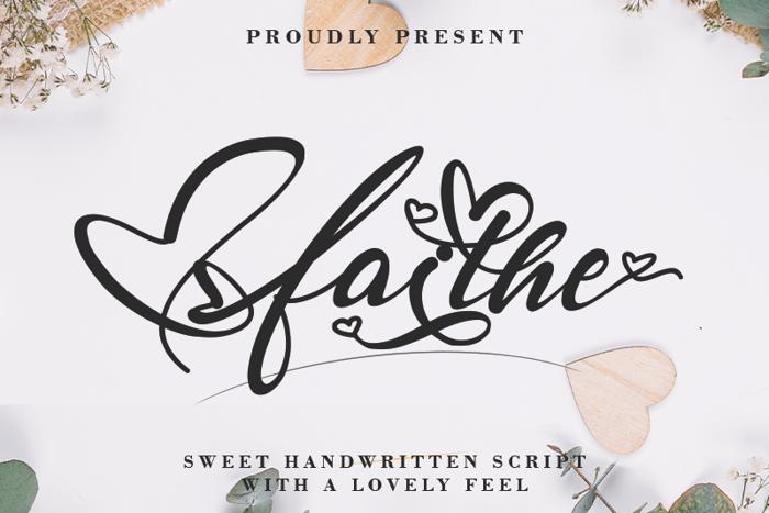 Faithe Font poster
