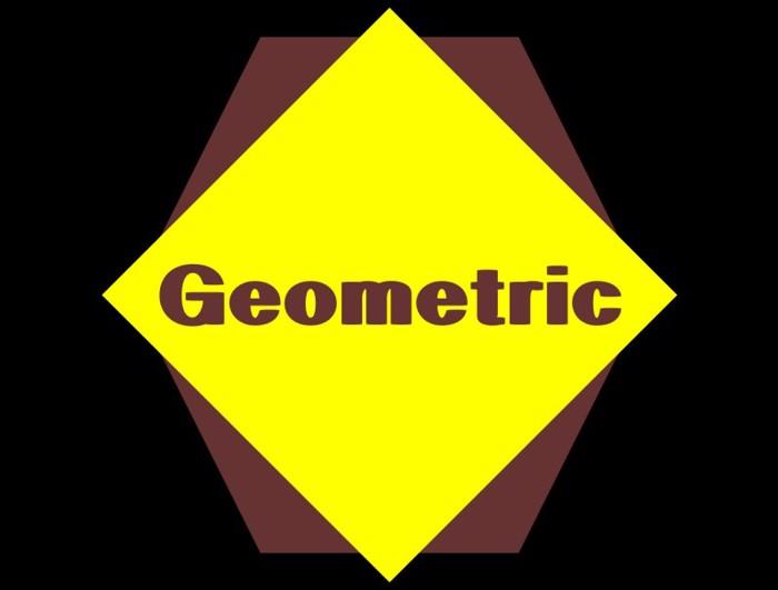 Geometric Font poster