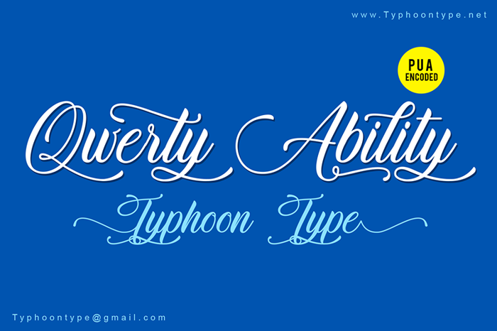 Qwerty Ability Font poster