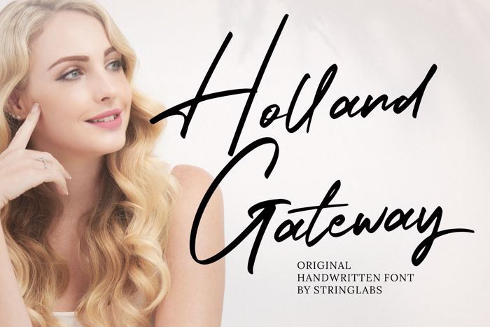 Holland Gateway Font poster