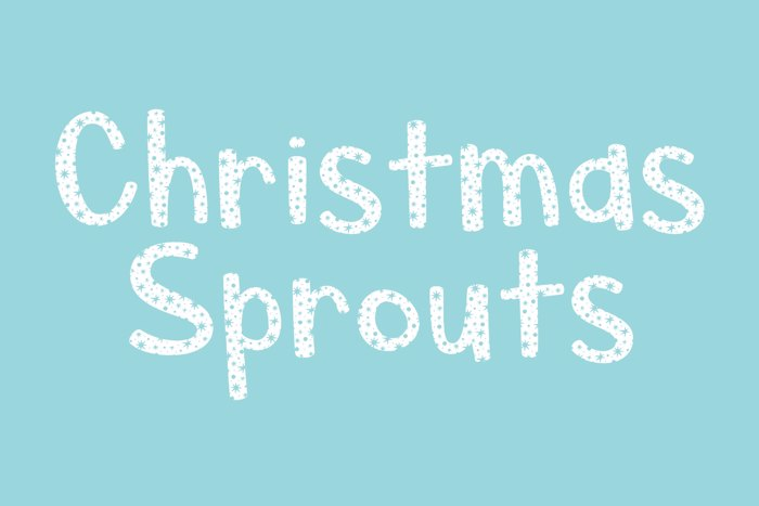 Christmas Sprouts Font poster