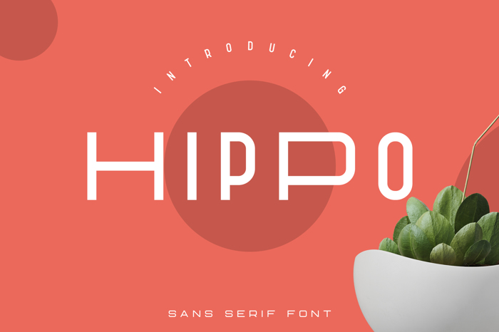Hippo Font poster