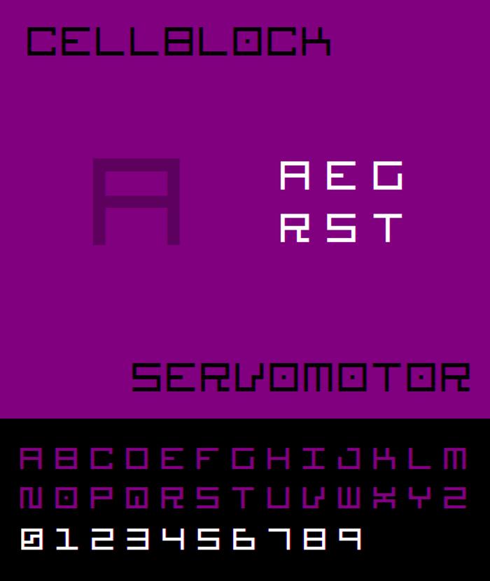 Cellblock NBP Font poster