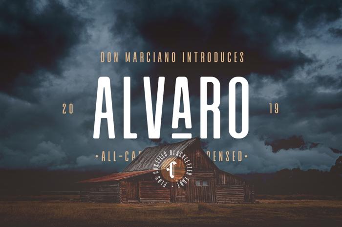 Alvaro Condensed Font poster