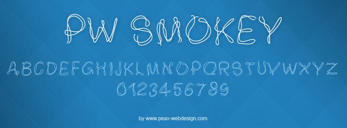 PWSmokey Font poster