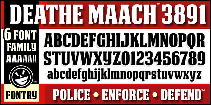 DEATHE MAACH NCV Font poster