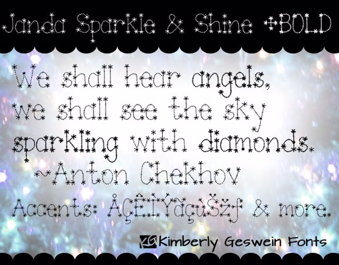 Janda Sparkle and Shine Font poster