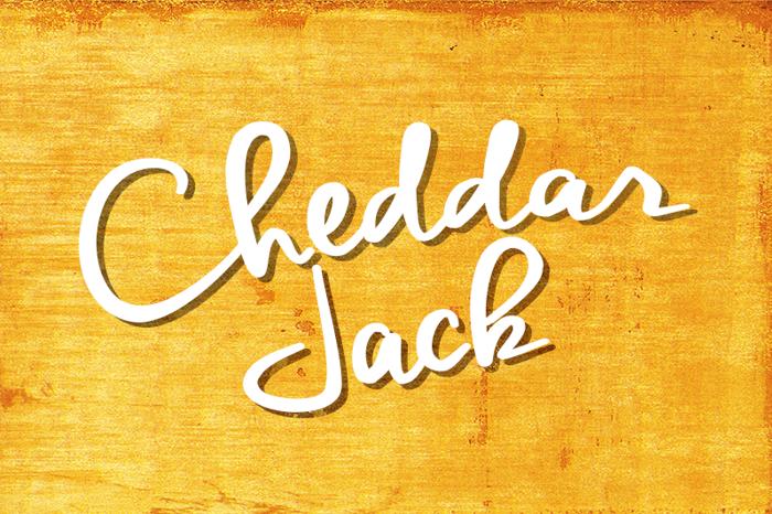 Cheddar Jack Font poster