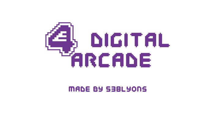 E4 Digital Arcade Font poster