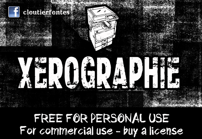 CF Xerography Font poster