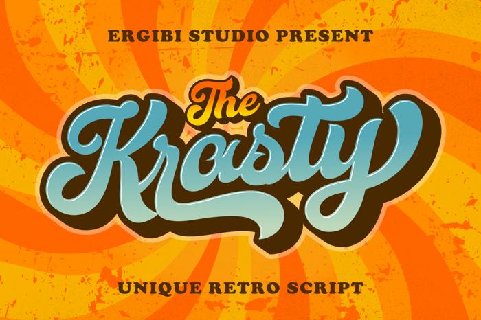 Krasty Font poster