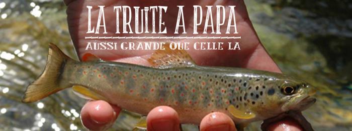 LA TRUITE A PAPA Font poster