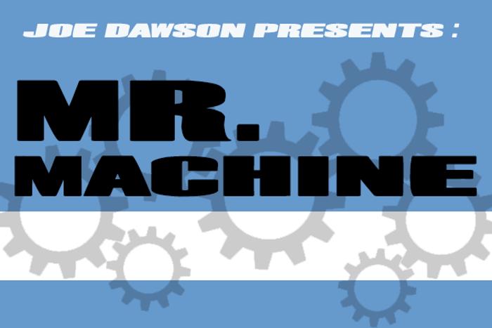 Mr. Machine Font poster
