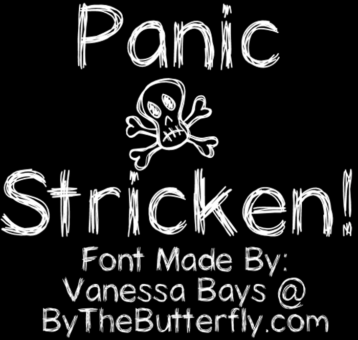 PanicStricken Font poster