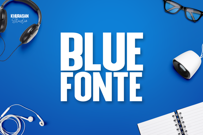 Blue Fonte Sans Font poster