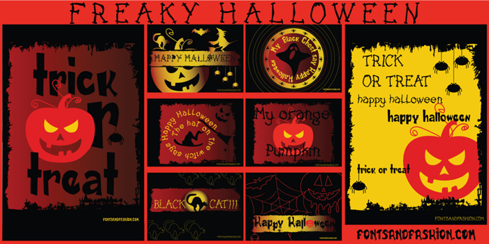 FREAKY HALLOWEEN Font poster