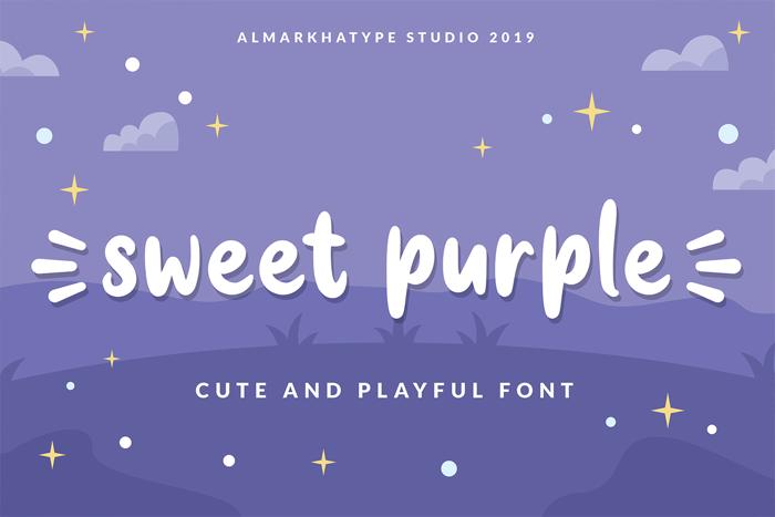 sweet purple Font poster