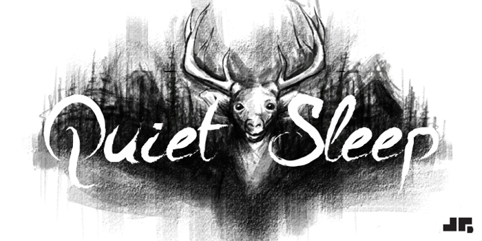 A Quiet Sleep Font poster