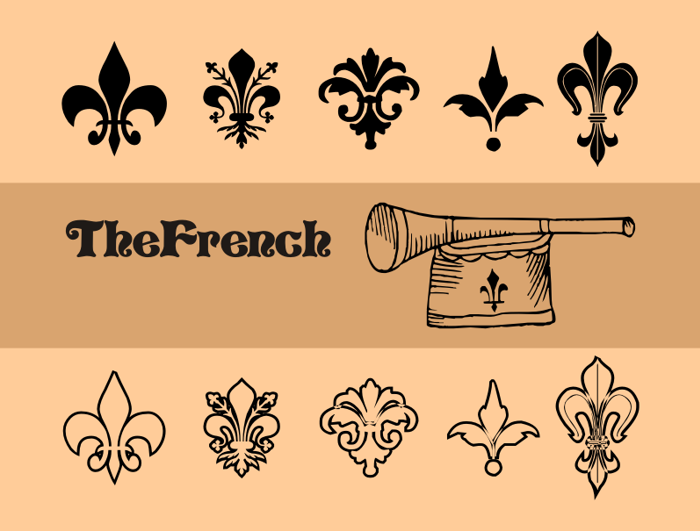 TheFrench Font poster