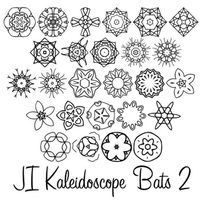 JI Kaleidoscope Bats 2 Font poster