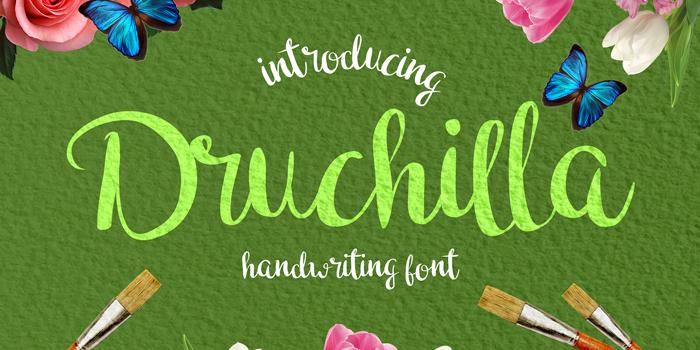 Druchilla Font poster