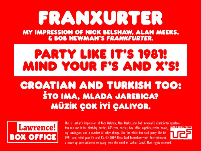 Franxurter Font poster