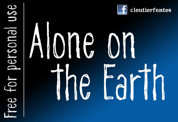 CF Alone on the Earth DEMO Font poster