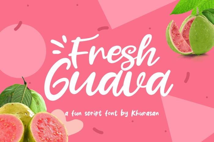 Fresh Guava Font poster