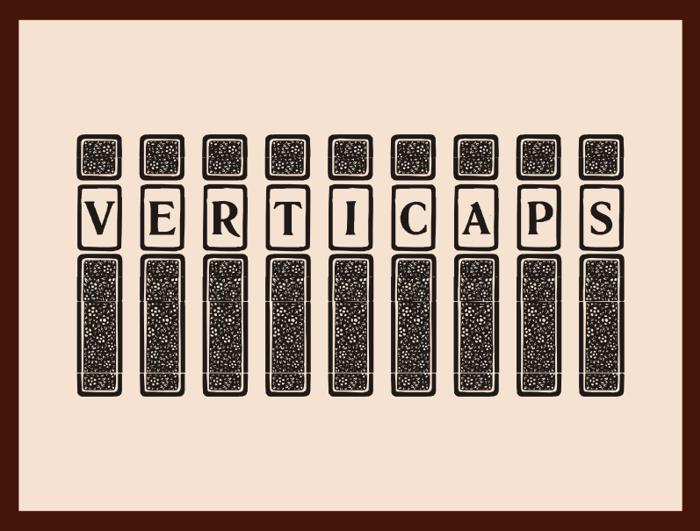 VertiCaps Font poster