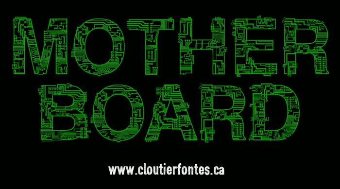 CF Motherboard DEMO Font poster
