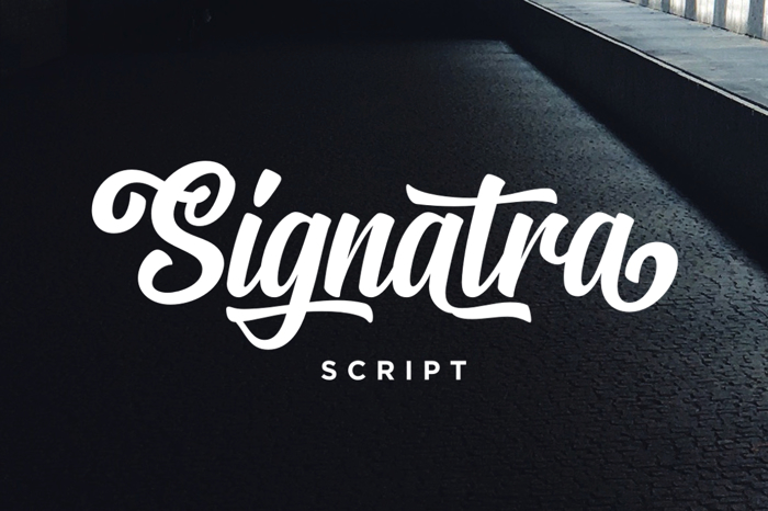 Signatra DEMO Font poster