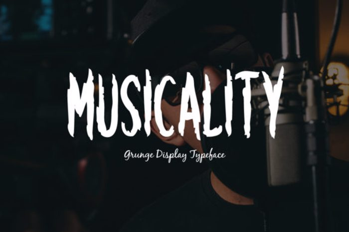 Musicality Font poster